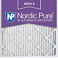 Nordic Pure 20x20x1M8-6 MERV 8 Pleated AC Furnace Air Filter, 20x20x1, Box of 6 by Nordic Pure