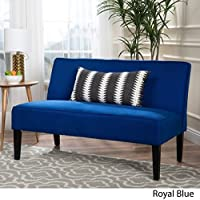 Dejon Fabric Loveseat by Christopher Knight Home, Royal Blue