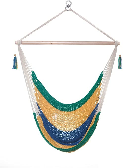 Amazon Com Toucan Hammocks Chair Hammock Swing Patio Garden Cradle Premium Quality Fairtrade Brazil Design Garden Outdoor