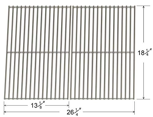 - Hisencn Stainless Steel Replacement Cast Iron Cooking Grid Grate for Select Gas Grill Models by Char-Broil, Coleman, Kenmore, Thermos, Uniflame, Master and Others, Set of 2