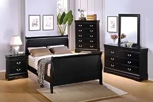 5 Pc Louis Phillipe Queen Bedroom Set by Coaster Furniture