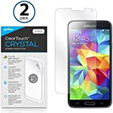 Galaxy S5 Screen Protector, BoxWave [ClearTouch Crystal (2-Pack)] HD Film Skin - Shields from Scratches for Samsung Galaxy S5