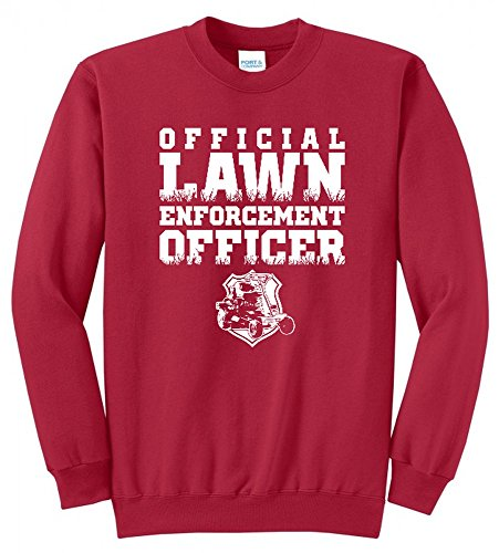 Official Lawn Enforcement Officer COP DAD Father Funny Mens Crew Neck Sweatshirt