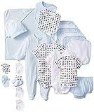 51Qae%2BVaSAL. SL160  Gerber Baby boys Newborn Deluxe Layette Set, Blue/White, 0 6 Months
