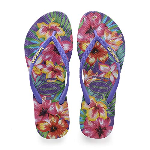 Mehrfarbig purple Hibisco Damen Zehentrenner Slim Havaianas nfq8v4W