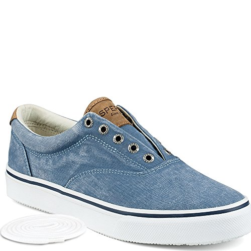 Sperry Top-Sider Men's Striper LL CVO Saltwash Fashion Sneaker, Light Blue, 11 M US