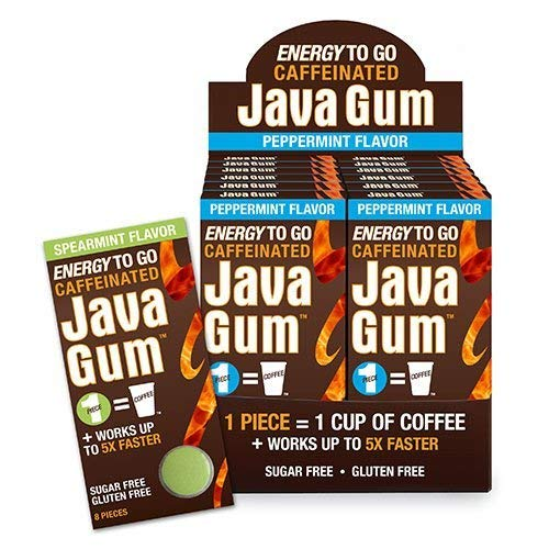 Java Caffeinated Energy Spearmint Chewing Gum Case Pack 96 Pieces by Java Gum