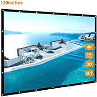 120 inch Portable Projector Screen, GBTIGER 120 Outdoor Projection Screen, 120 Inch 16:9 Outdoor Home Theater Office Presentation Projector Screen, PVC Fabric