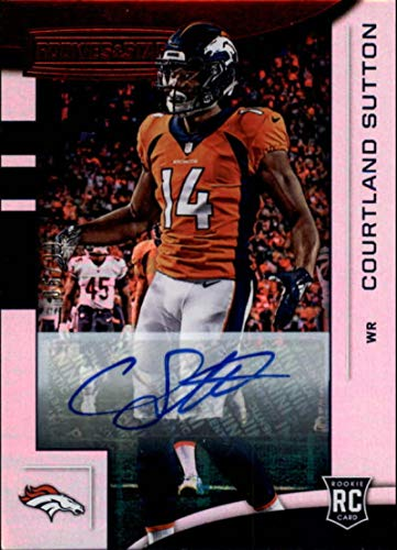 2018 Panini Rookies and Stars Longevity Signature #115 Courtland Sutton RC AUTO Autograph 5/99 NFL Football Trading Card Broncos