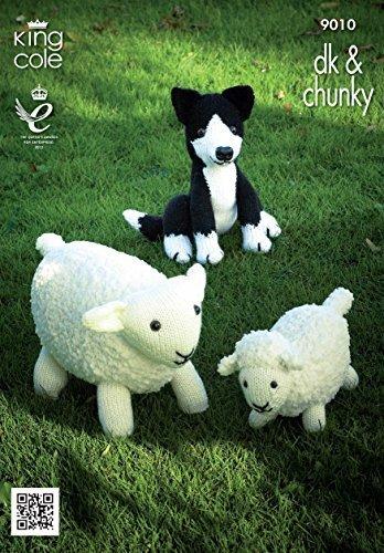 Amazon King Cole 9010 Knitting Pattern Sheep Lamb And Sheepdog
