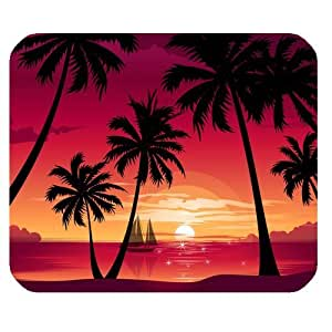 Customized Palm Beach Sunset Rectangle Non-Slip Rubber Mousepad Gaming Mouse Pad Pad316 by runtopwell