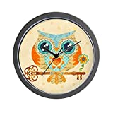 CafePress – Owls Summer Love Letters – Unique Decorative 10″ Wall Clock