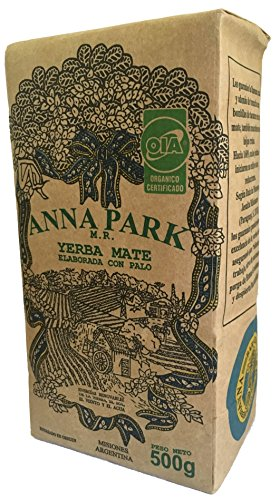 "Anna Park Yerba Mate - Organic - 1.1 LB / 500 g / 17.6 oz 7 A TRADITIONAL TEA: Yerba Mate has been used for centuries in South America as a natural stimulant to support mental clarity and focus. Described as offering ""the strength of coffee, benefits of tea, and the euphoria of chocolate"". Anna Park Yerba Mate is a powerful and all natural, appetite curbing tea that provides energy, improves digestion and boosts your immune system. HIGHEST QUALITY AND PURITY: Our Yerba Mate is certified 100% organic, naturally gluten free and vegan without any artificial flavors or colors. Sustainably farmed, sourced from Argentina and naturally caffeinated. This exquisite Yerba Mate is produced over 3 years, protecting ecological reserve and environment. VITAMIN & MINERALS PACKED: Anna Park Yerba Mate is rich in vitamins A, C, E, B1, B2, B3, B5, and B Complex. Also contains Calcium, Manganese, Iron, Selenium, Potassium, Magnesium, Silicon, Phosphorus. 15 Amino Acids, Fatty Acids, Chlorophyll, Flavonoids, Polyphenols, and traces minerals."