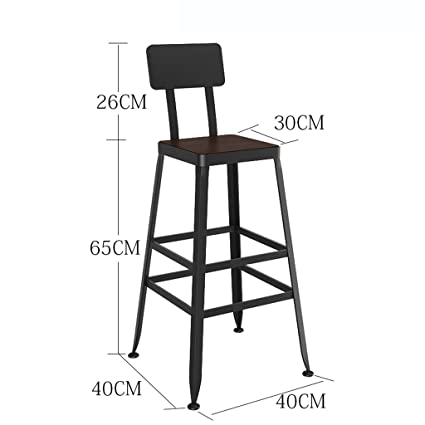 Amazon.com: QIAO Bar Stool Breakfast Chair Wrought Iron ...