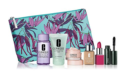 2017 Spring Bloomindales Clinique 7 Pcs Skin Care & Makeup Gift Set (A $70 Value)