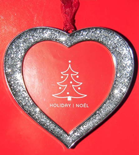 Studio Decor Heart Bling Christmas Ornament Photo Frame Enamel Metal (Decor Ornament Studio Christmas)
