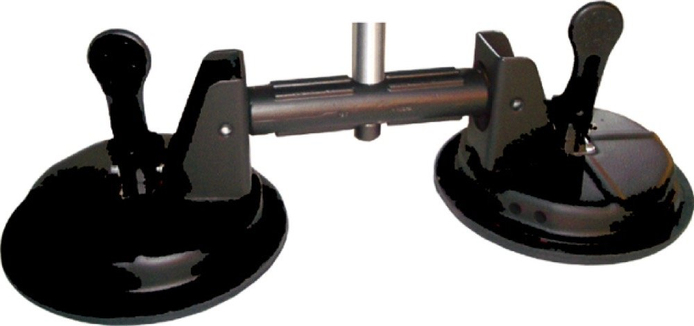 Kupo KG084111 Double Suction Cup with 5/8'' Stud (Black)