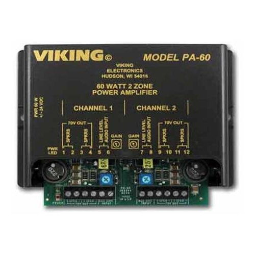 Viking Electronics PA-60 60w Compact Two Zone Amplifier