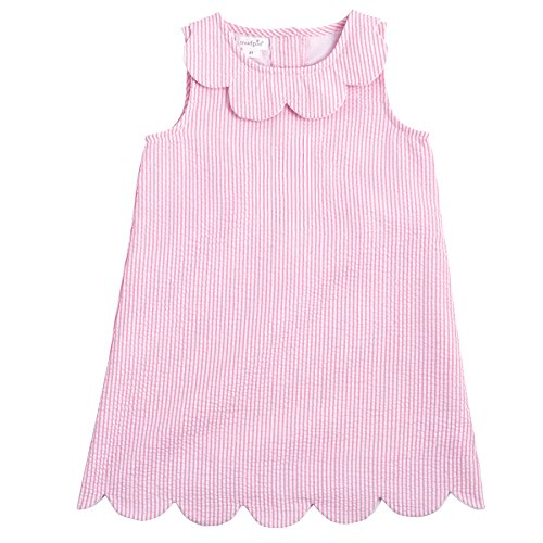 Seersucker Sundress (Mud Pie Girls Casual Playwear Sun Dress (4T), Seersucker)