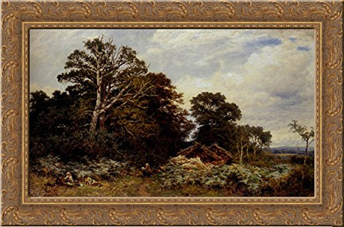 (A Surrey Woodland 24x18 Gold Ornate Wood Framed Canvas Art by Leader, Benjamin Williams)