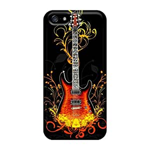 High Quality FlowerCase Guitar Fire Victor Skin Case Cover Specially Designed For Iphone - 5/5s