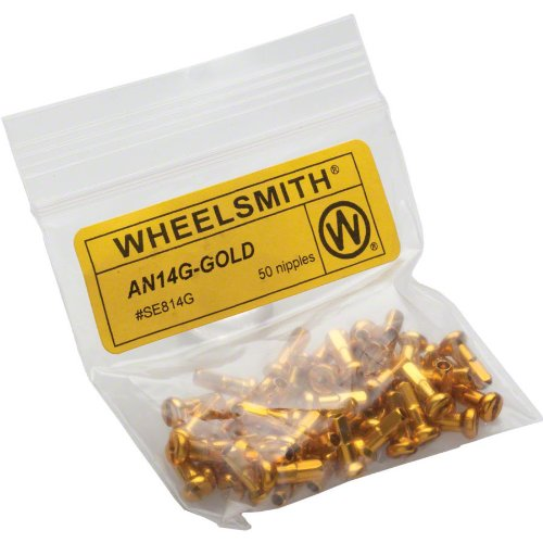 (Wheelsmith Alloy Nipples (Pack of 50), Gold, 20x12mm)