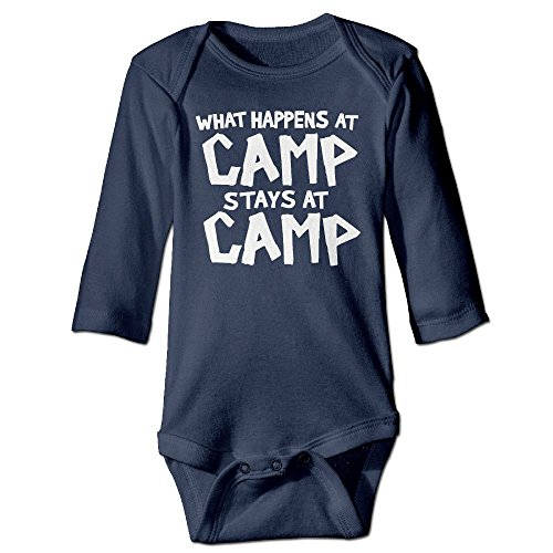 Richard Unisex Toddler Bodysuits What Happens At Camp Stays At Camp Boys Babysuit Long Sleeve Jumpsuit Sunsuit Outfit 6 M - Wear For Nerds What Do Halloween