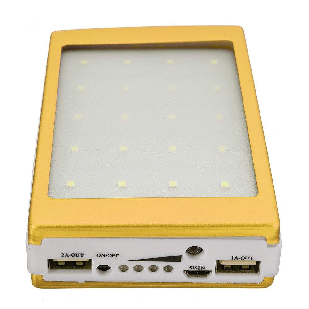 Beonzale Solar LED Portable Dual USB Power Bank 5x18650 Externes Ladeger/ät DIY Box