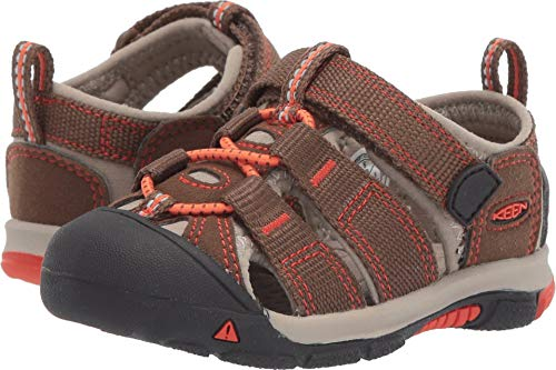 Keen Baby Newport H2 Water Shoe, Dark Earth/Spicy Orange, 7 M US Toddler