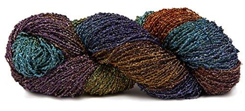 Fiesta Yarns Hand Dyed Starburst Rayon Boucle Yarn, (Fiesta Knitting Yarn)