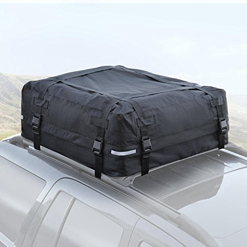 Jeep Cargo Carriers (BDK TopHaul Waterproof Roof Top Cargo Bag XL for Car Auto SUV Van - Soft Rooftop)