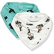 Rosie Pope Baby Bibs 2 Pack, Pirate Stripe Multi, OS