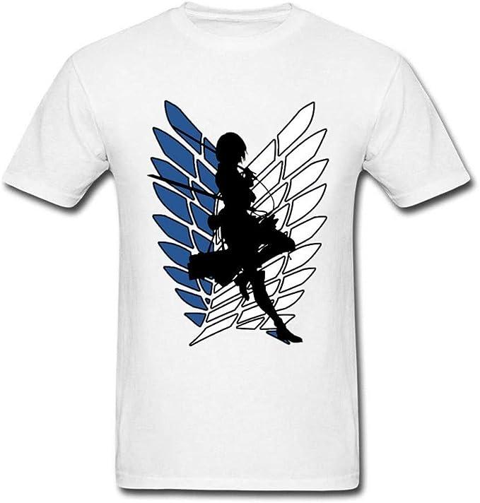 Shirt Men Anime Manga T-Shirt Attack On Titan Tshirt Ackerman Captain Tops: Amazon.es: Ropa y accesorios