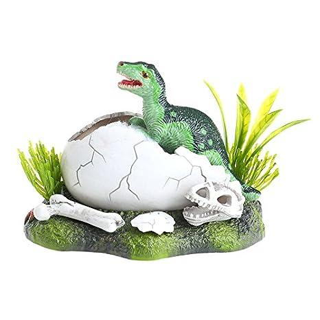 LANDUM Dinosaurio Acuario Cueva de hípica Aire acción pecera Adorno Paisaje decoración: Amazon.es: Hogar