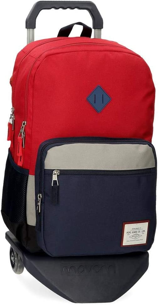 Sac /à Dos Double Compartiment Pepe Jeans Dany Rouge