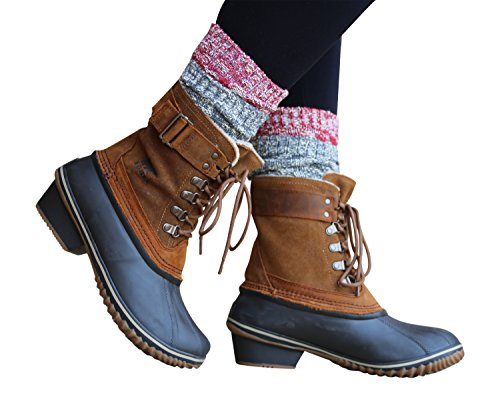 Lucky-Love-TM-Marled-Crew-Length-Camp-Boot-Socks-for-Women-2-3-Pack-Options