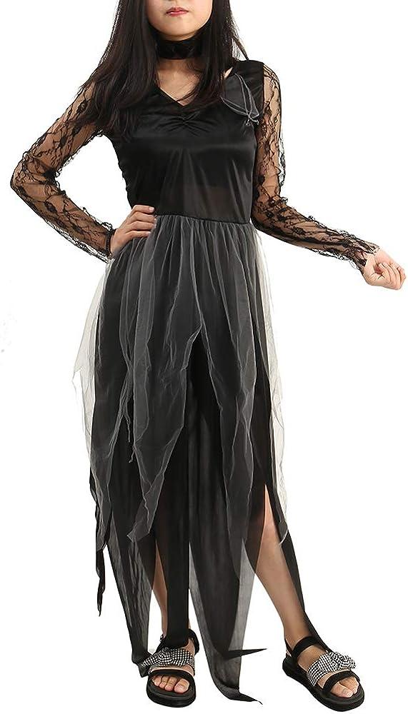 New_Soul Disfraz De Novia Cadaver Traje Vampiro Mujer Fantasma ...