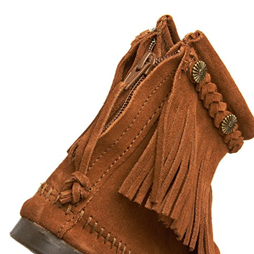 Minnetonka Boot Suede Brown Back Women's Zip pqTUrpg