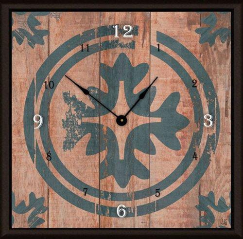 Green Leaf Art Floral Target on Wood Art Clock, 20 by (Target Wood Clock)