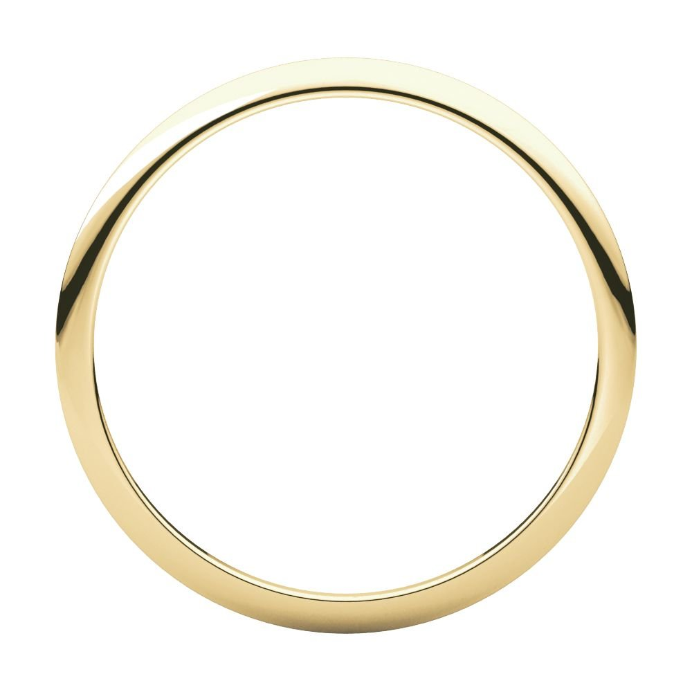 Jewels By Lux 18K Yellow Gold 1mm Half Round Wedding Ring Band by Jewels By Lux (Image #2)