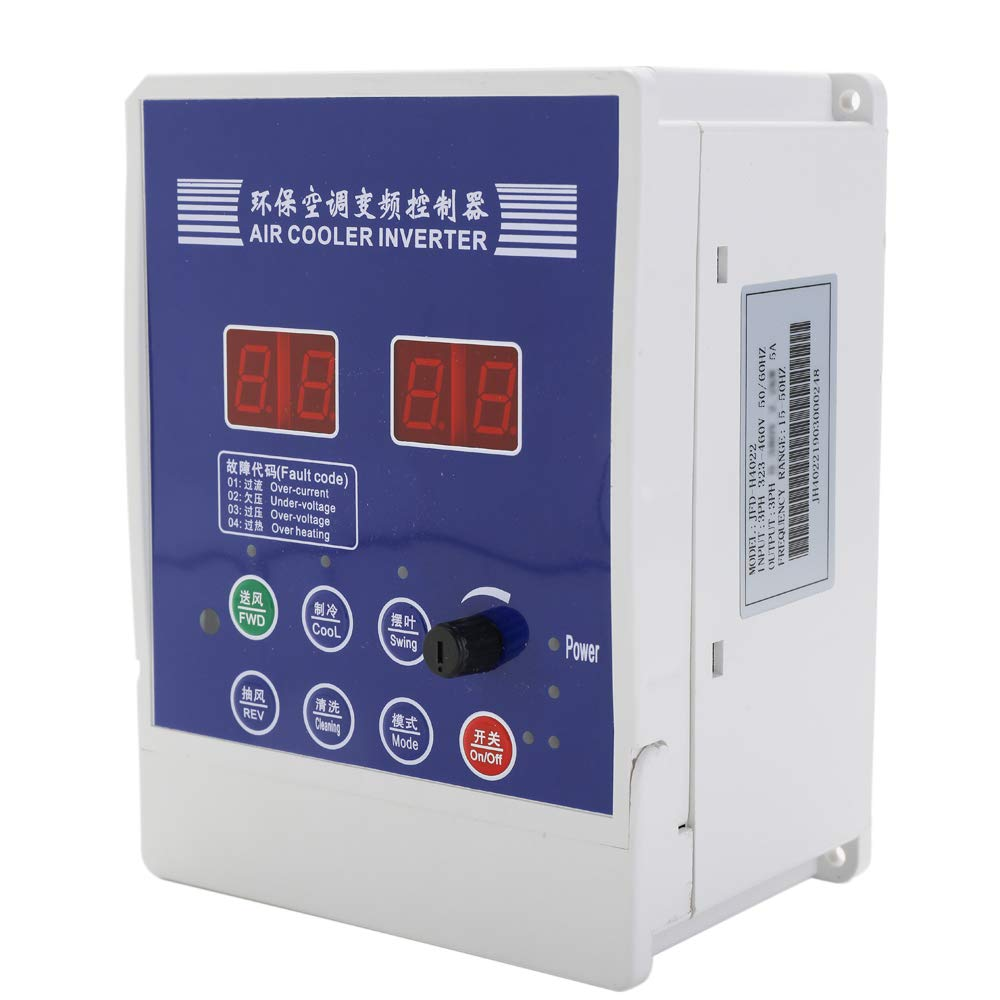 Baugger Variable Inverter, Air Cooler Inverter Adjustable Variable Frequency Drive AC380V Variable Motor Draught Fan Air Conditioner Speed Controller With Remote Control by Baugger