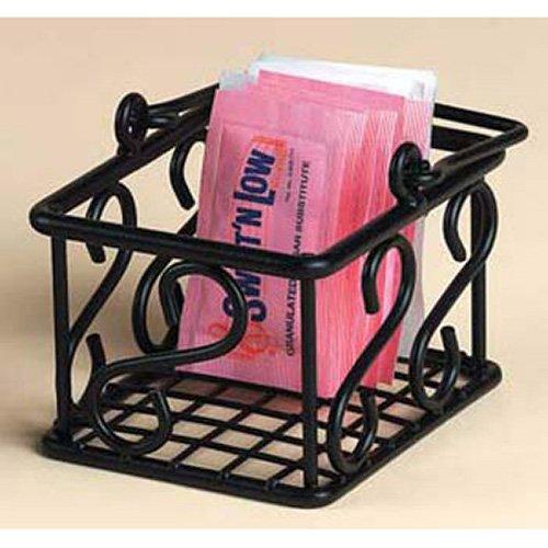 American Metalcraft (SBS533) Leaf Design Wrought Iron Sugar Packet Basket