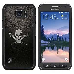 Stuss Case / Funda Carcasa protectora - Leather Skull Flag Ship Mar Negro - Samsung Galaxy S6 Active G890A