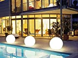 GreatLion 12'' LED Garden Decor Ball with Remote, Color Changing, Pool Light Decor, Cordless, Rechargeable Lithium Battery 1PC