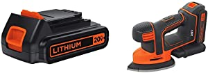 BLACK+DECKER LBXR20 20-Volt MAX Extended Run Time Lithium-Ion Cordless To with BLACK+DECKER BDCMS20C 20V MAX Lithium Ion MOUSE Sander