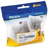 Aqueon Small Filter Cartridge for Mini Bow, Set of 6 Filter Cartridges