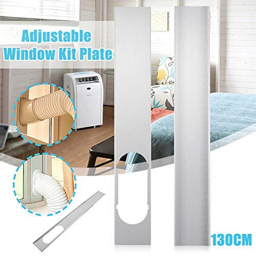 bromrefulgenc Universal Window Seal,Window Kit Plate for Air Conditioner and Tumble Dryer-Works with Every Air-Conditioning Unit - Air Exchange Guards and Adhesive Fastener 2# (Global Accessory Kit)