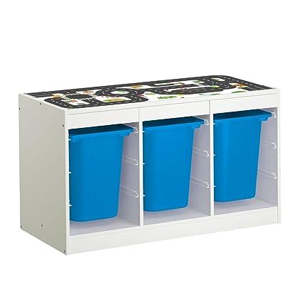 Meubles Table De Jeu Sur Colle Routes Etagere Pour Ikea Trofast