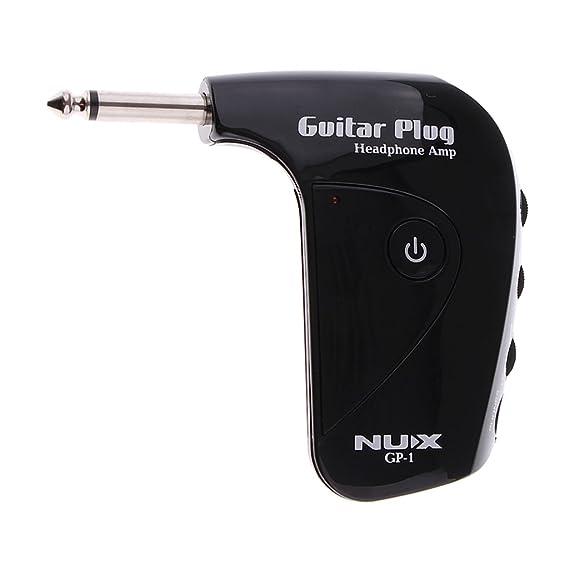 Gazechimp Amplificador De Guitarra Eléctrica Portátil Mini Amplificador De Auriculares Incorporada En La Distorsión Accesorio de Instrumento Musical de Alta ...