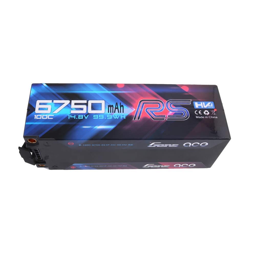 Gens ace 6750mAh 14.8V de Alto Voltaje 100C 4S1P HardCase Lipo 50 #